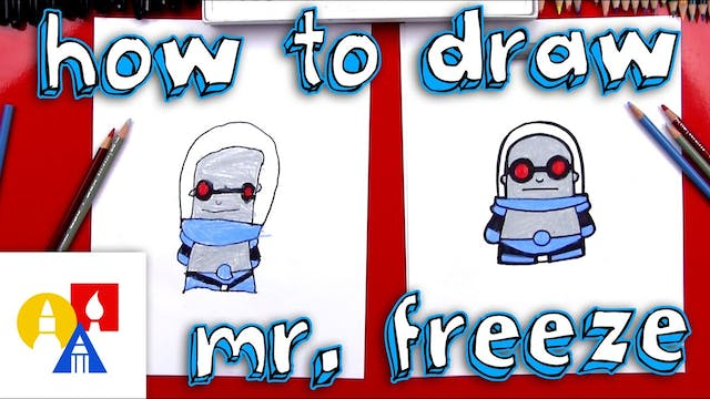 How To Draw Cartoon Mr. Freeze
