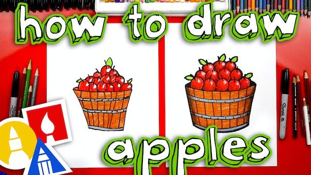 How To Draw An Apple Barrel For Fall