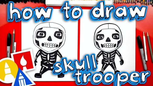 How To Draw The Skull Trooper From Fortnite