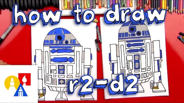 How To Draw R2D2