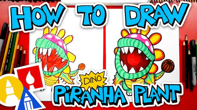How To Draw A Dino Piranha Plant From...