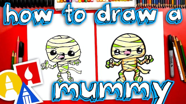 How To Draw A Funny Mummy