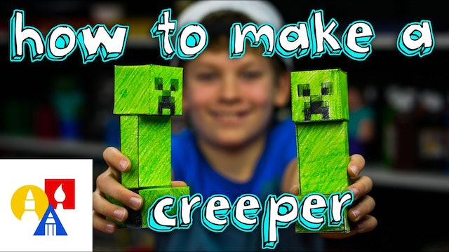 How To Make A Papercraft Creeper From Minecraft