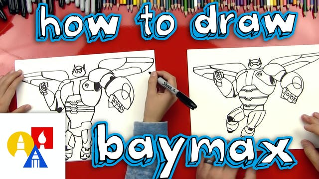 How To Draw Baymax (Red Armor Suit) F...