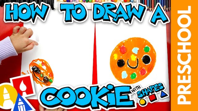 Drawing A Cookie With Shapes - Preschool