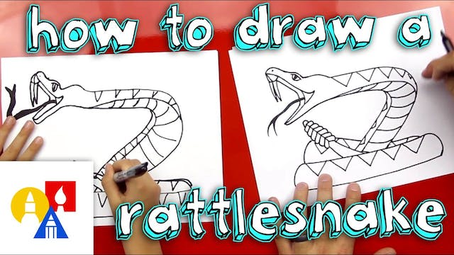 How To Draw Rattlesnake