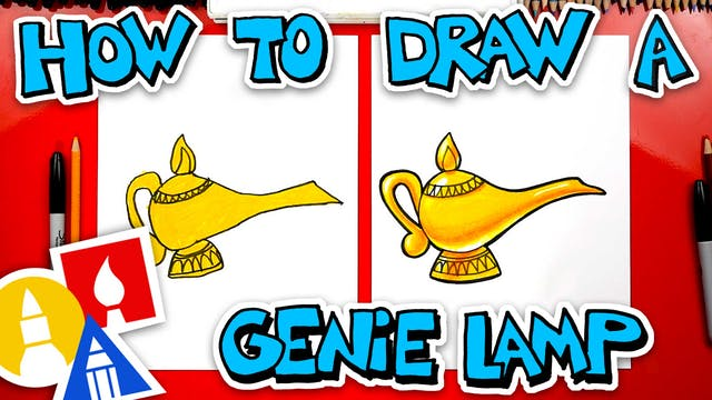 How To Draw The Genie Lamp