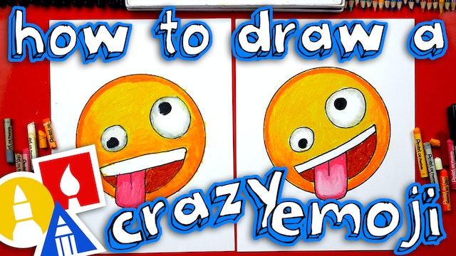 How To Draw Crazy Emoji