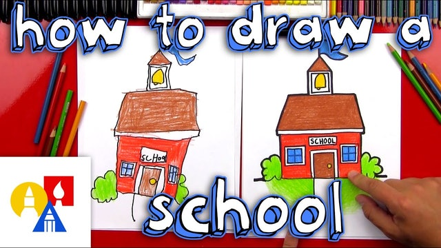 How To Draw A Cartoon School