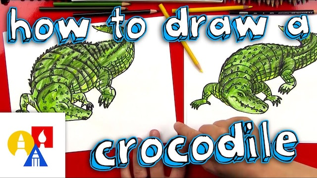 How To Draw A Realistic Crocodile