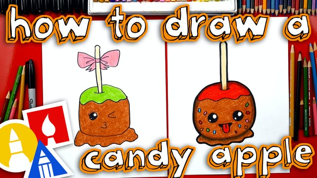 How To Draw A Candy Apple With Mrs. Hubs