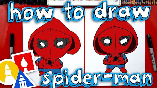 How To Draw Spider-Man Homecoming - m...