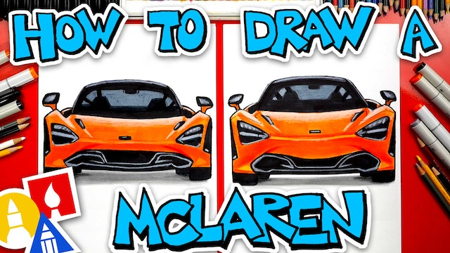 How To Draw A McLaren 720s (Front View)