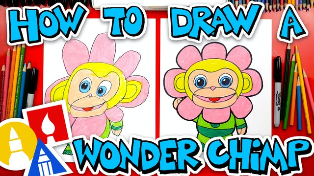 How To Draw The Flower Wonder Chimp From Wonder Park + Giveaway!