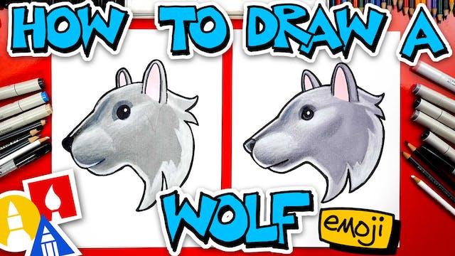How To Draw The Wolf Head Emoji 🐺