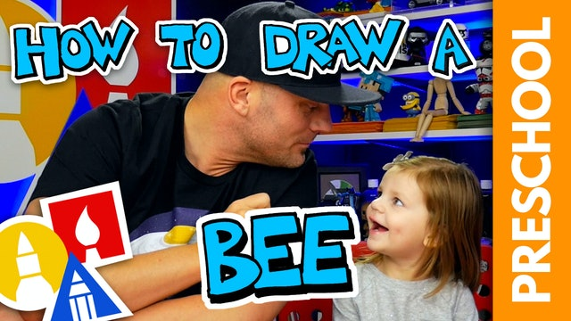 Drawing A Bee With My 2-Year-Old - Preschool