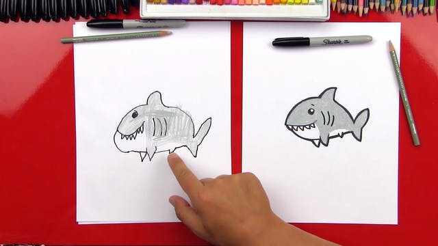 Member - How To Draw A Cartoon Shark