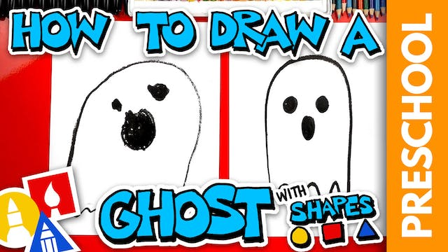Drawing A Ghost With Shapes - Preschool