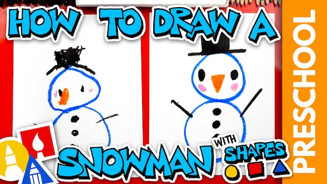 Drawing A Snowman With Shapes - Presc...