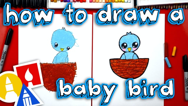 How To Draw Baby Bird With Shapes