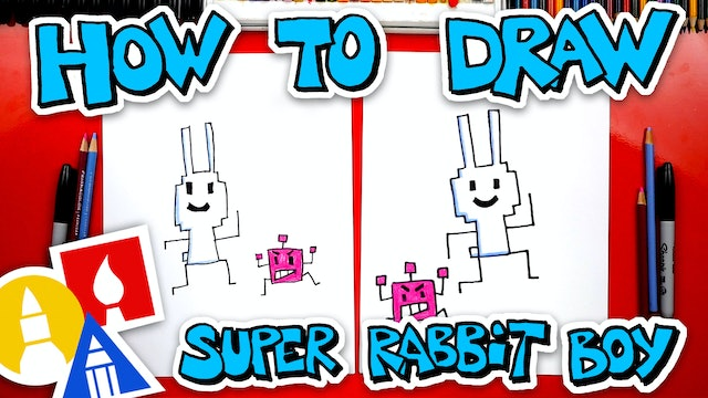 How To Draw Super Rabbit Boy From Press Start