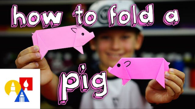 How To Fold An Origami Pig