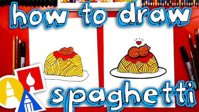 How To Draw Funny Spaghetti And Meatballs