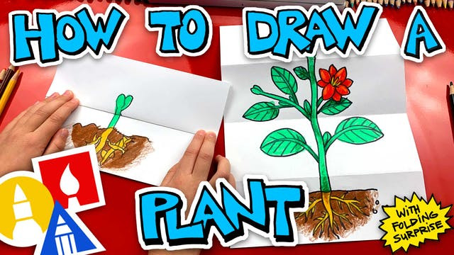 How To Draw A Plant With Folding Surp...