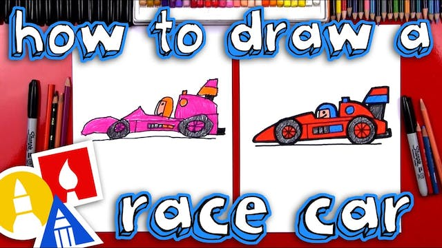 How To Draw A Race Car For Young Artists