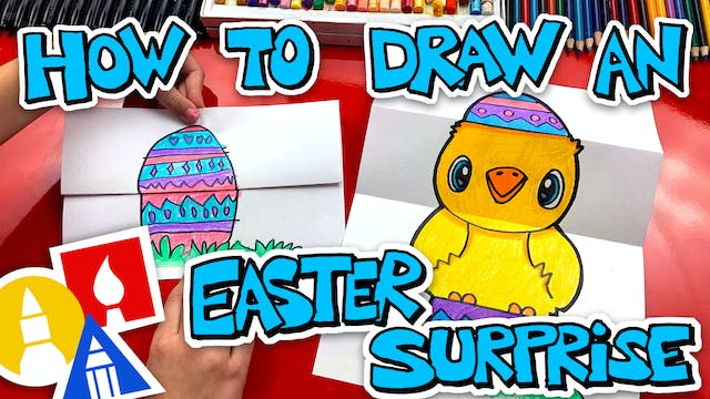 How To Draw An Easter Egg Folding Sur...