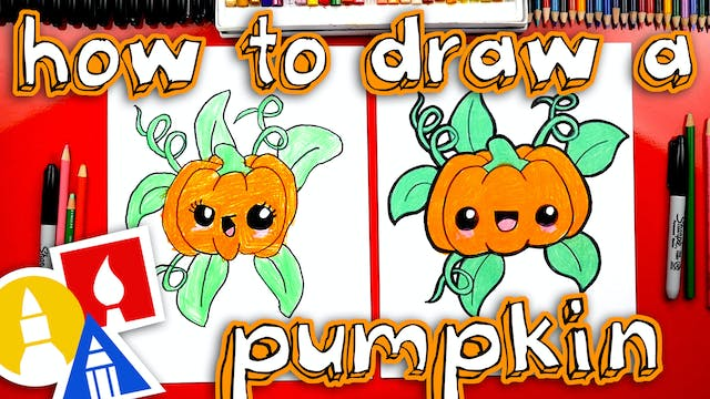 How To Draw A Funny Pumpkin