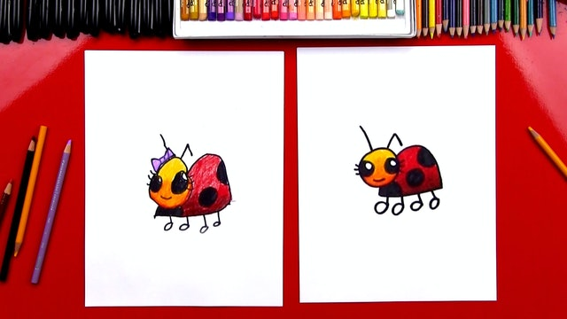 How To Draw A Simple Ladybug