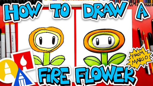How To Draw A Fire Flower From Mario ...