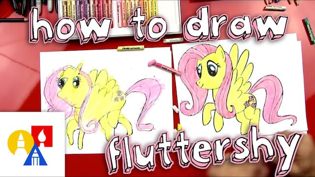 How To Draw Fluttershy From My Little...