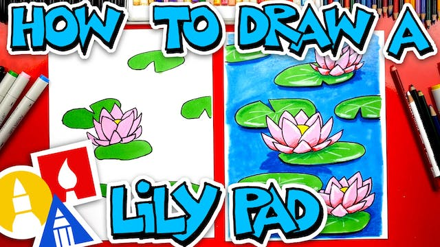 How To Draw A Lily Pad