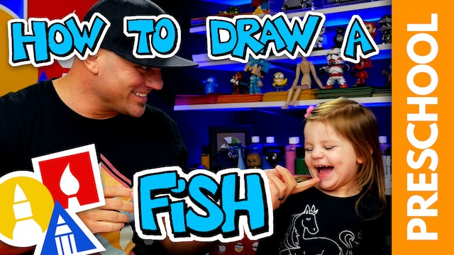 Drawing A Fish With My 2-Year-Old - Preschool
