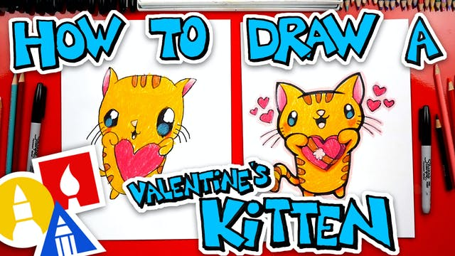 How To Draw The Cutest Valentines Kit...