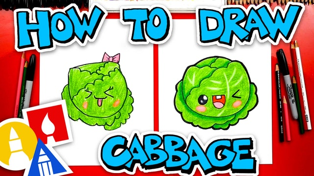 How To Draw Funny Cabbage