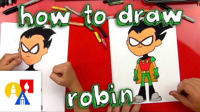 How To Draw Robin From Teen Titans Go