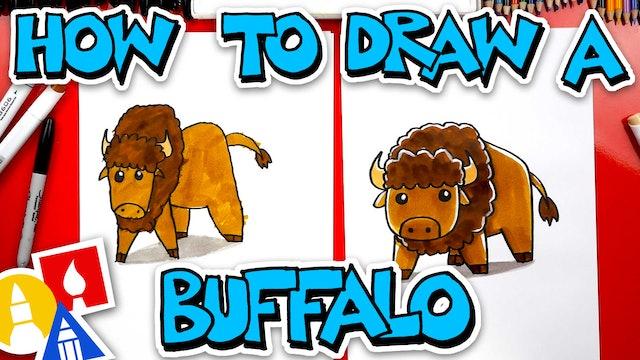 How To Draw A Cartoon Buffalo (Bison)
