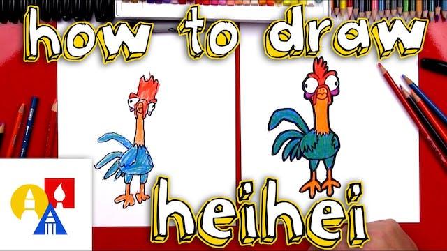 How To Draw Heihei From Moana