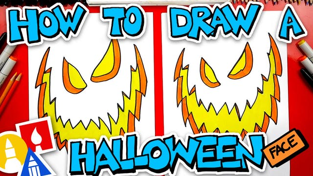 How To Draw A Halloween Face
