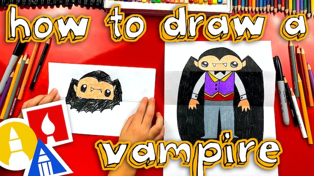 How To Draw A Bat And Vampire Folding Surprise