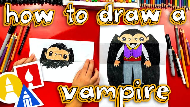 How To Draw A Bat And Vampire Folding...