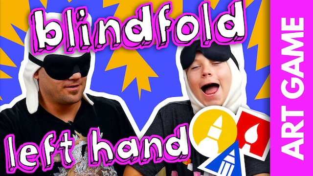 ART GAME: Lefthand Blindfolded Drawing Challenge