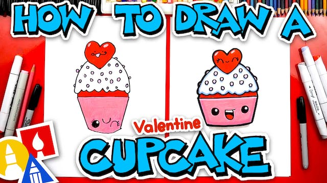 How To Draw A Valentine Cupcake