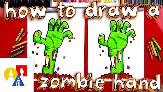How To Draw A Zombie Hand Coming Out ...