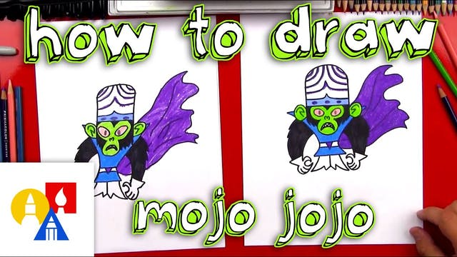 How To Draw Mojo Jojo From Powerpuff ...