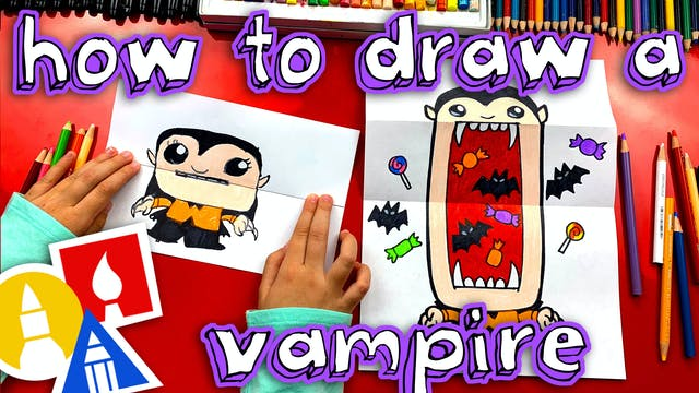 How To Draw A Big Mouth Vampire Foldi...