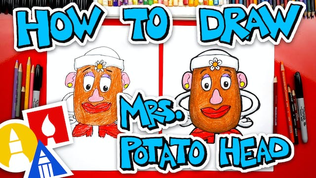 How To Draw Mrs. Potato Head